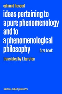 Ideas Pertaining to a Pure Phenomenology and to a Phenomenologic