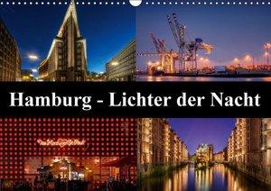 Hamburg - Lichter der Nacht (Wandkalender 2016 DIN A3 quer)