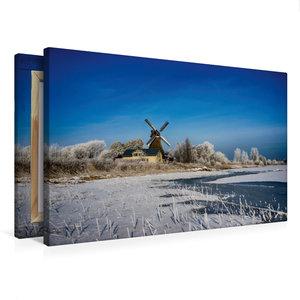 Premium Textil-Leinwand 75 cm x 50 cm quer Holländermühle Nicola