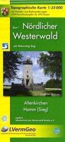 Nördlicher Westerwald 1. Altenkirchen, Hamm (Sieg) 1 : 25 000. W - zum Schließen ins Bild klicken