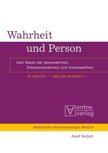 De Veritate - Über die Wahrheit 01. Wahrheit und Person