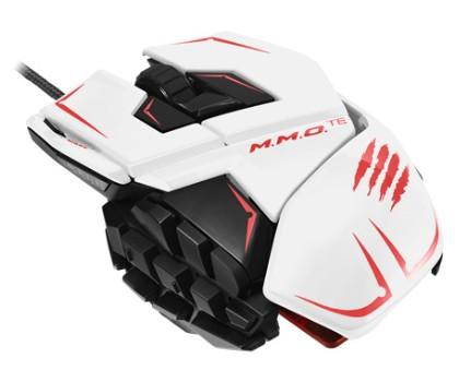 M.M.O. TEÖ Gaming-Maus für PC und Mac, weiss - zum Schließen ins Bild klicken