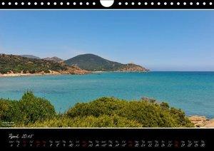 Sardinia Panoramic Calendar / UK-Version (Wall Calendar 2015 DIN