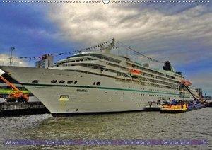 Kreuzfahrtschiffe zu Gast in Hamburg (Wandkalender 2017 DIN A2 q