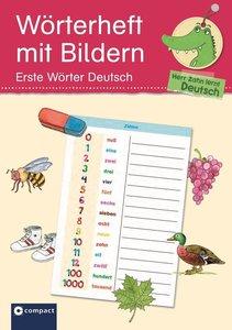 Wörterheft mit Bildern - Erste Wörter Deutsch