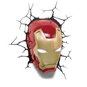 3D Deko Licht - Marvel - Iron Man Maske (inkl. Wandsticker)