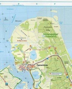 Insel Usedom, Wolgast, Karlshagen, Zinnowitz und Umgebung 1 : 35