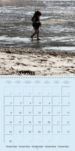 Low Tide on the Beach (Wall Calendar 2015 300 × 300 mm Square)