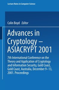 Advances in Cryptology - ASIACRYPT 2001