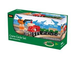 Brio 33162 - Bahn Starterset: Crane Circle Set