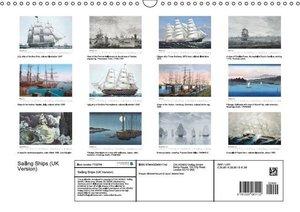 Sailing Ships (UK Version) (Wall Calendar 2016 DIN A3 Landscape)