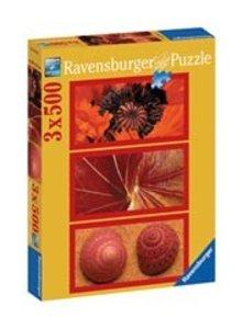 Ravensburger 16284 - Naturimpressionen in rot, 3 x 500 Teile Puz