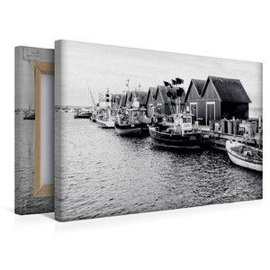 Premium Textil-Leinwand 45 cm x 30 cm quer Fischerhütten am Weiß