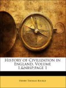 History of Civilization in England, Volume 1, page 1
