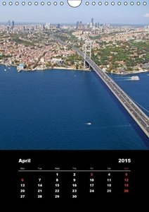 Istanbul - Aerial Views / UK-Version (Wall Calendar 2015 DIN A4