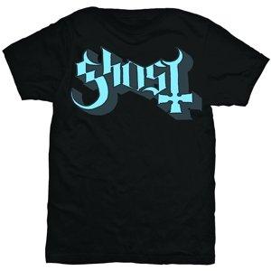 Blue Logo (T-Shirt,Schwarz,Größe L)