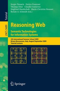 Reasoning Web. Semantic Technologies for Information Systems