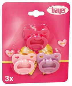 Bayer 79104 - Schnuller, 3 Stück im Set