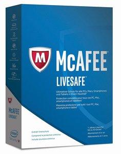 McAfee 2017 LiveSafe (Code in a Box). Für Windows 7/8/8.1/10/MAC