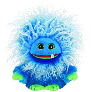 Ty Fang Buddy-blauer Frizzy, ca. 24 cm