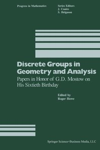 Discrete Groups in Geometry and Analysis