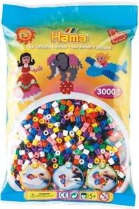 HAMA 201-00 - Bügel-Perlen, 3000 Stück, Vollton-Mix