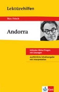 """Lektürehilfen Max Frisch """"Andorra"""""""