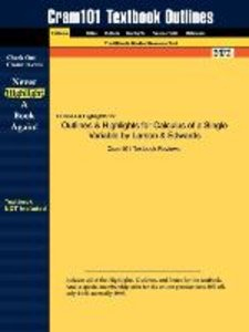 Outlines & Highlights for Calculus of a Single Variable by Larso