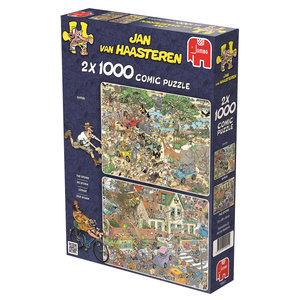 Der Sturm & Die Safari. Puzzle 2 x 1000 Teile