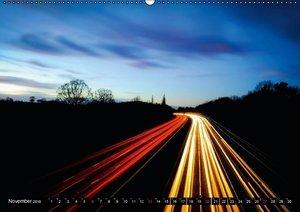 Licht & Geschwindigkeit: Autobahnen (Wandkalender 2016 DIN A2 qu