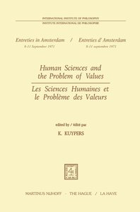 Human Sciences and the Problem of Values / Les Sciences Humaines