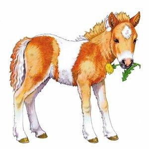 Liebes Pony. Holz-Konturpuzzle