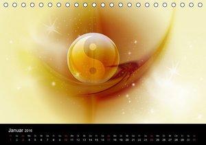 Buddha und Yin Yang (Tischkalender 2016 DIN A5 quer)