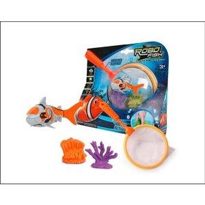 Robo Fish + 2 Korallen + Netz