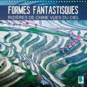 Formes fantastiques : les rizières de Chine vues du ciel (Calend