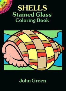 Shells Stained Glass Coloring Book