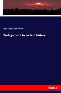 Prolegomena to ancient history