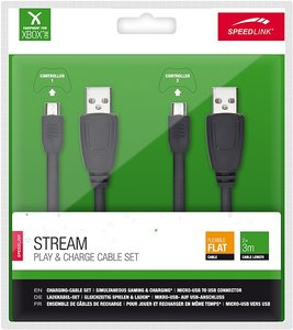 STREAM Play & Charge Cable Set (2 Stück) - for Xbox One, black