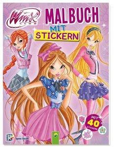 Winx Club Malbuch mit Stickern