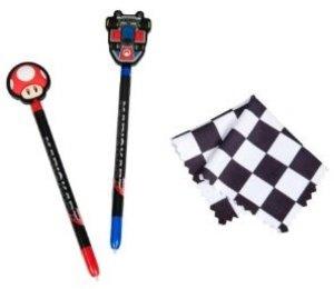 Mario Kart Stylus Pack (2 Stifte, Reinigungstuch, Zielflagge)