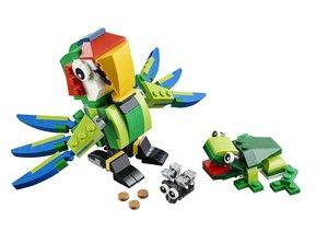 LEGO Creator 31031 - Regenwaldtiere, 3in1: Papagei, Frosch, Fisc