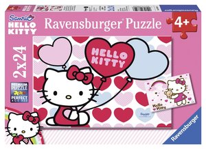 Ravensburger 08854 - Hello Kittys Welt, 2 x 24 Teile Puzzle