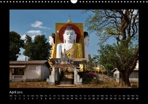 Buddhas of Burma / UK-Version (Wall Calendar 2015 DIN A3 Landsca