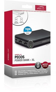 Speedlink PECOS Power Bank-XL-7400mAh, Zusatz-Akku, schwarz