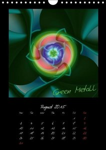 Digital Flowers/UK Version (Wall Calendar 2015 DIN A4 Portrait)