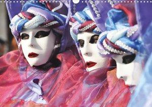 Venedigs Masken (Posterbuch DIN A3 quer)