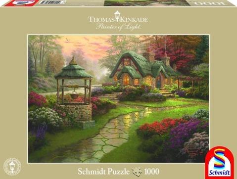 Haus mit Brunnen Puzzle 1.000 Teile - zum Schließen ins Bild klicken