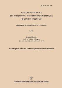Grundlegende Versuche zur Keimungsphysiologie von Pilzsporen