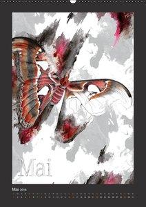 Papillon Art (Wandkalender 2016 DIN A2 hoch)