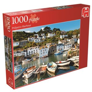 Hafen von Polperro. Puzzle 1000 Teile